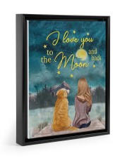 I Love You To The Moon and Back Poster  11x14 Black Floating Framed Canvas Prints thumbnail