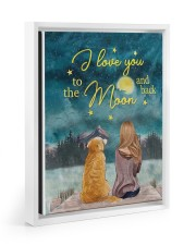 I Love You To The Moon and Back Poster  11x14 White Floating Framed Canvas Prints thumbnail