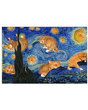 CAT STARRY NIGHT POSTER 17x11 Poster front