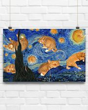 CAT STARRY NIGHT POSTER 17x11 Poster poster-landscape-17x11-lifestyle-17