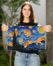 CAT STARRY NIGHT POSTER 17x11 Poster poster-landscape-17x11-lifestyle-19