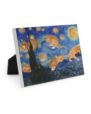 CAT STARRY NIGHT POSTER Easel-Back Gallery Wrapped Canvas tile