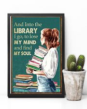 AND INTO THE LIBRARY I GO 11x17 Poster lifestyle-poster-8