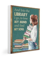 AND INTO THE LIBRARY I GO 11x14 Gallery Wrapped Canvas Prints thumbnail