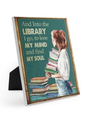 AND INTO THE LIBRARY I GO 8x10 Easel-Back Gallery Wrapped Canvas thumbnail