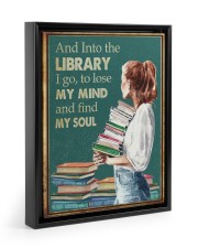 AND INTO THE LIBRARY I GO 11x14 Black Floating Framed Canvas Prints thumbnail
