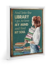 AND INTO THE LIBRARY I GO 11x14 White Floating Framed Canvas Prints thumbnail
