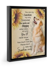 YOU ARE MY SUNSHINE MY ONLY SUNSHINE - GOLDEN 11x14 Black Floating Framed Canvas Prints thumbnail