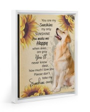 YOU ARE MY SUNSHINE MY ONLY SUNSHINE - GOLDEN 11x14 White Floating Framed Canvas Prints thumbnail