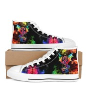 DRAGON AND FIRE HIGH TOP Women's High Top White Shoes inside-left-outside-left