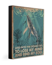 AND INTO THE OCEAN I GO POSTER 11x14 Gallery Wrapped Canvas Prints thumbnail