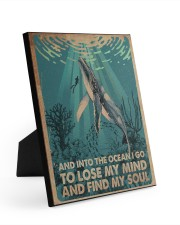 AND INTO THE OCEAN I GO POSTER 8x10 Easel-Back Gallery Wrapped Canvas thumbnail
