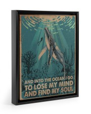 AND INTO THE OCEAN I GO POSTER 11x14 Black Floating Framed Canvas Prints thumbnail