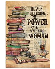 NEVER UNDERESTIMATE THE POWER OF A WELL-READ WOMAN 11x17 Poster front