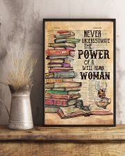 NEVER UNDERESTIMATE THE POWER OF A WELL-READ WOMAN 11x17 Poster lifestyle-poster-3