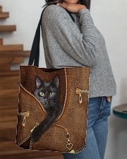 Black cat Tote Bag All-over Tote aos-all-over-tote-lifestyle-front-09