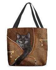 Black cat Tote Bag All-over Tote front