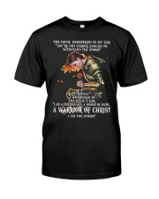 DEVIL-WHISPERED-WARRIOR-OF-CHRIST Classic T-Shirt front