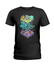 ISOMETRIC DND GAME  Ladies T-Shirt tile