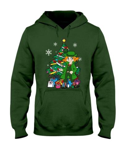 Leprechaun Girl Around Christmas Tree