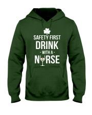 Irish Nurse Hooded Sweatshirt front