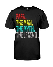 papa the man the myth the legend Premium Fit Mens Tee thumbnail
