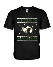 Christmas Himalayan Cat V-Neck T-Shirt thumbnail