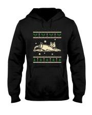 Christmas Calico Cat Hooded Sweatshirt thumbnail