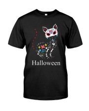 CAT HALLOWEEN Premium Fit Mens Tee front