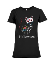 CAT HALLOWEEN Premium Fit Ladies Tee thumbnail