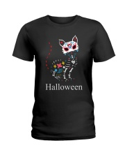 CAT HALLOWEEN Ladies T-Shirt thumbnail