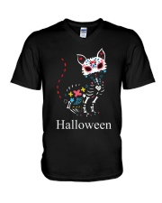 CAT HALLOWEEN V-Neck T-Shirt thumbnail