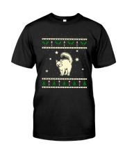 Christmas Turkish Angora Cat Premium Fit Mens Tee front