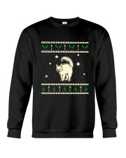 Christmas Turkish Angora Cat Crewneck Sweatshirt thumbnail