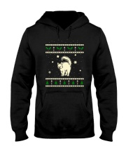 Christmas Turkish Angora Cat Hooded Sweatshirt thumbnail