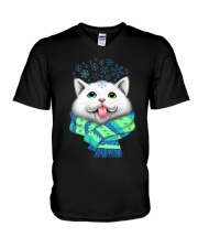 WHITE CAT V-Neck T-Shirt thumbnail