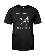 HELLO DARKNESS MY OLD FRIEND Premium Fit Mens Tee front