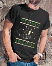 Christmas Tuxedo Cat Premium Fit Mens Tee lifestyle-mens-crewneck-front-4