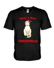 MEOWY AND MERRY V-Neck T-Shirt thumbnail