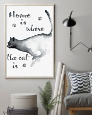 HOME IS WHERE THE CAT IS 24x36 Poster lifestyle-poster-1