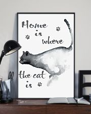 HOME IS WHERE THE CAT IS 24x36 Poster lifestyle-poster-2