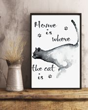 HOME IS WHERE THE CAT IS 24x36 Poster lifestyle-poster-3