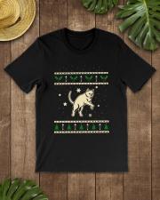 Christmas Chartreux Cat Premium Fit Mens Tee lifestyle-mens-crewneck-front-18