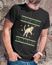 Christmas Chartreux Cat Premium Fit Mens Tee lifestyle-mens-crewneck-front-4