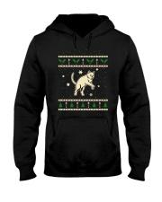 Christmas Chartreux Cat Hooded Sweatshirt thumbnail