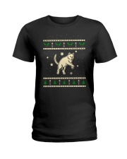 Christmas Chartreux Cat Ladies T-Shirt thumbnail