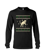 Christmas Chartreux Cat Long Sleeve Tee thumbnail