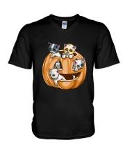PUMPKIN CAT V-Neck T-Shirt thumbnail