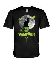 CAT VAMPURR V-Neck T-Shirt thumbnail