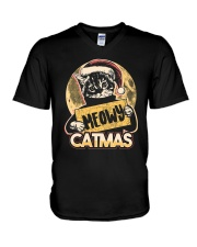 MEOWY CATMAS V-Neck T-Shirt thumbnail